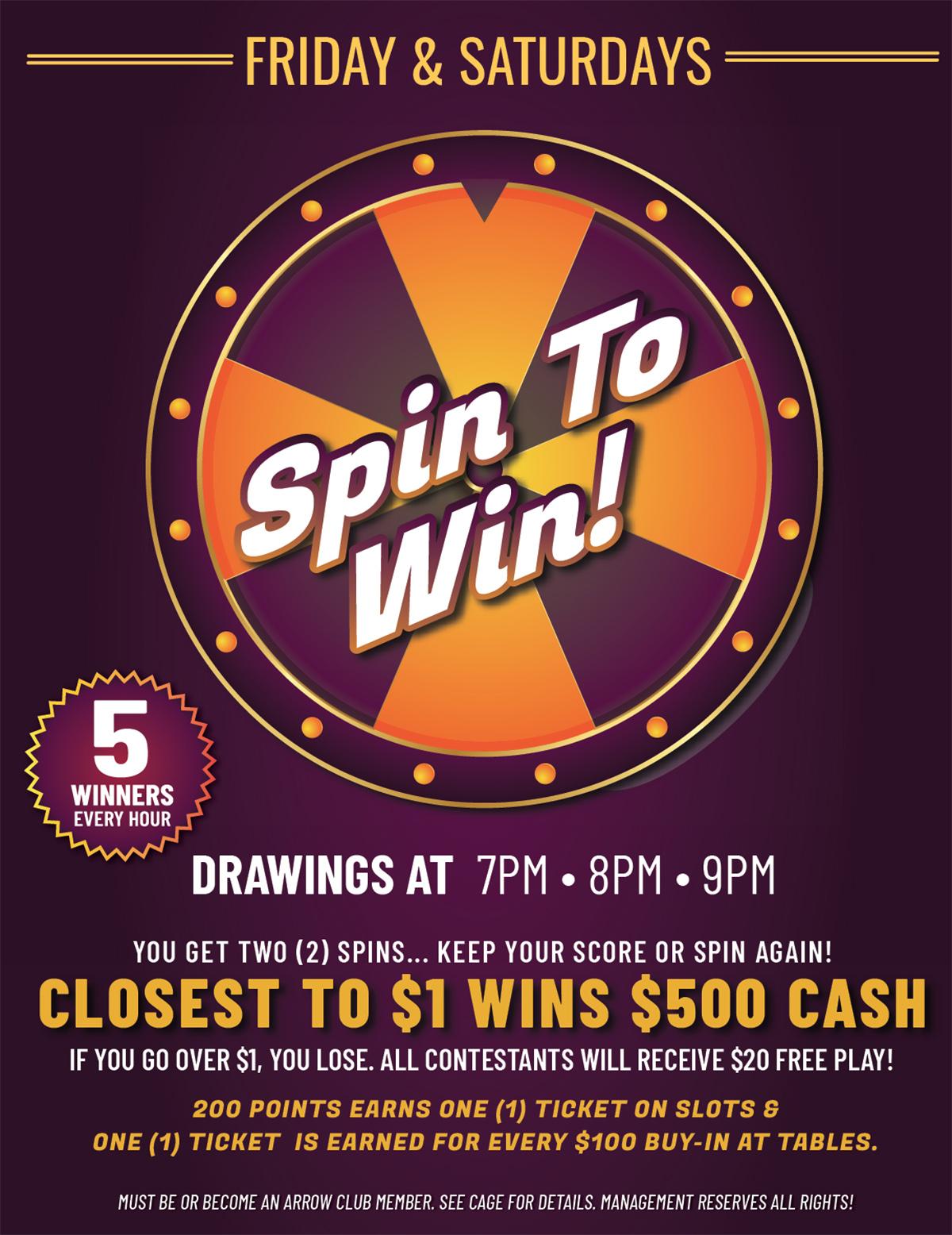 spin to win at wanaaha casino