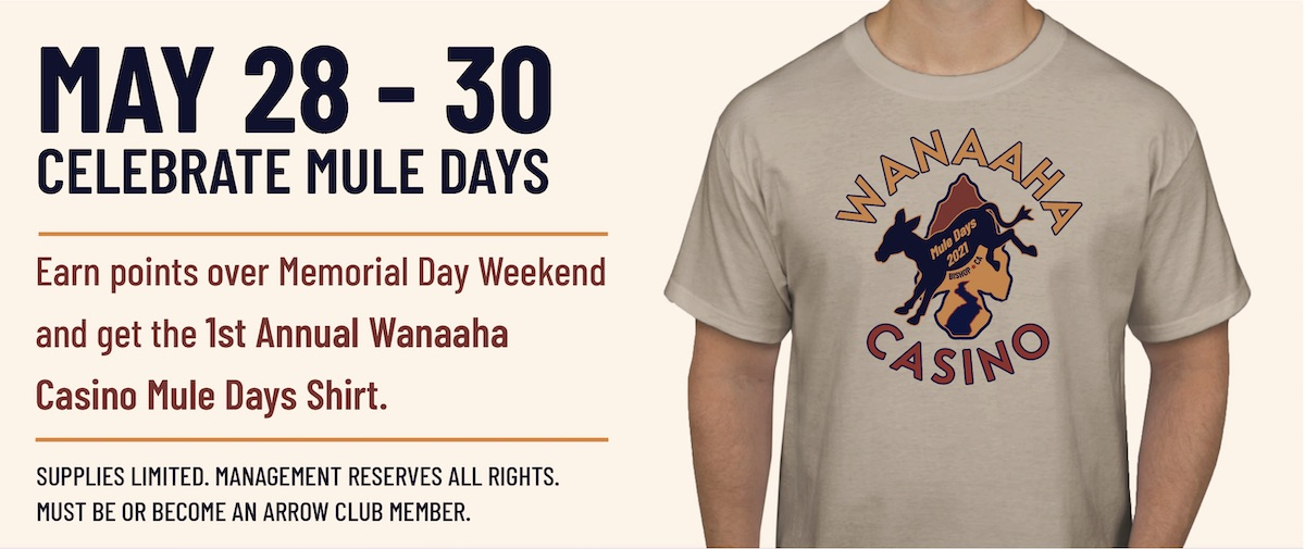 wanaaha casino mule days shirt