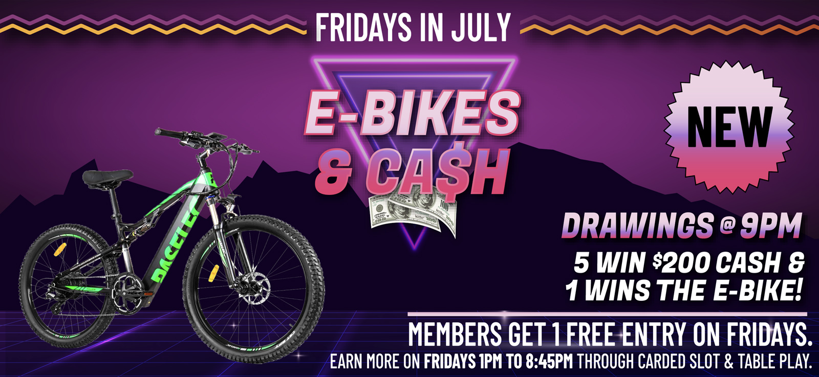 wanaaha casino e-bikes and cash