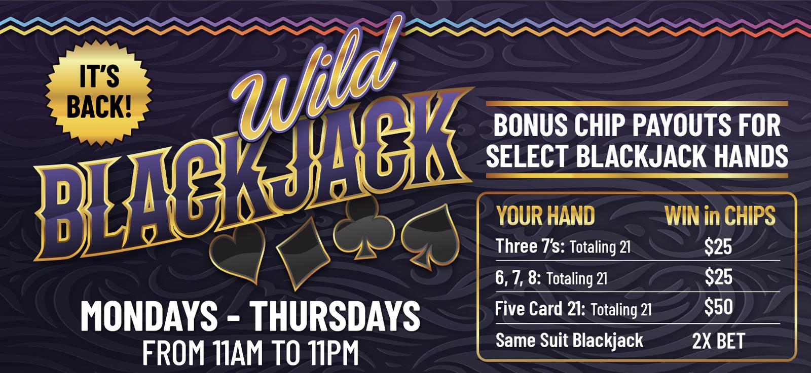 wanaaha casino wild blackjack
