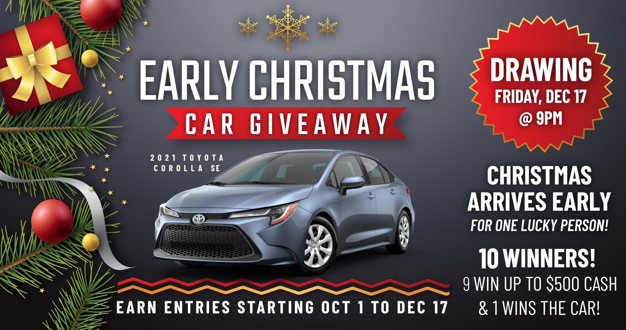 Wanaaha Casino Early Christmas Car Giveaway